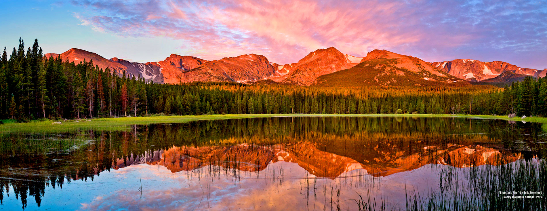 home page hero image bierstadt fire rocky mountain national park